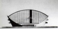 estación de trenes y sala de conciertos: alzado