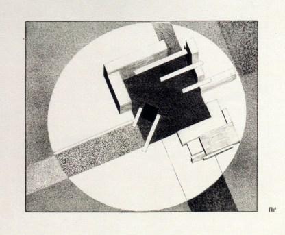 """El Lissitsky: Proun 1E, """"Ciudad"""" 1920-1921"""