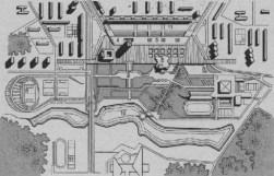 Zona central del distrito de Zelenograd, Moscú, 1963
