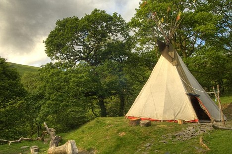 A tipi for Lackan Cottage Farm
