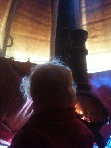 Fire gazing