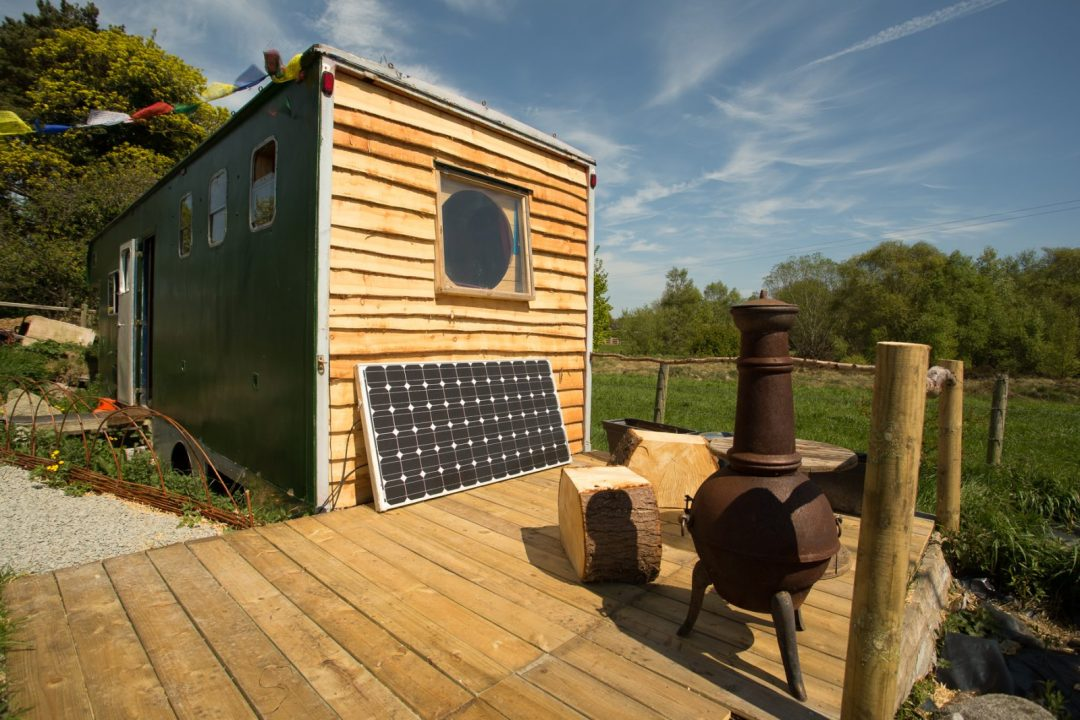 deck area of off grid horse box