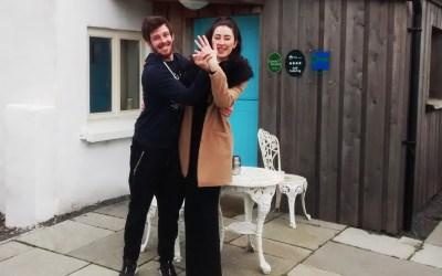 Congratulations to a happy couple