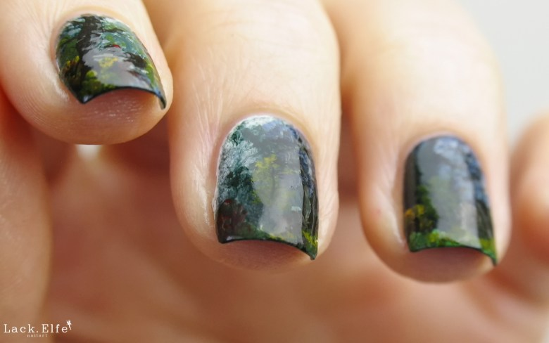 Indian Summer Bob Ross Nailart Nail Art Acrylfarben