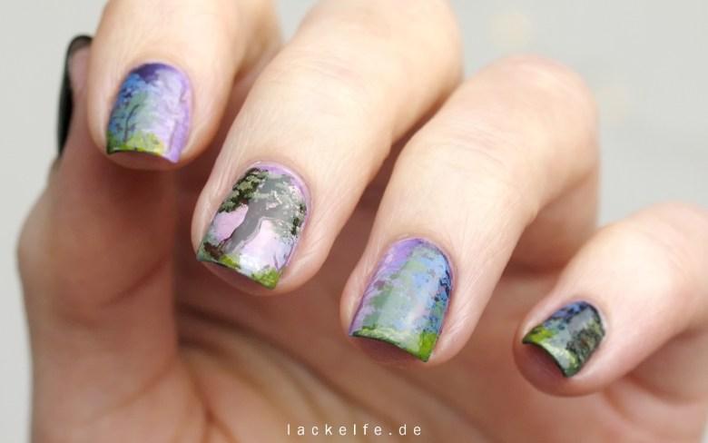 Bob Ross Serenity nailart nail art