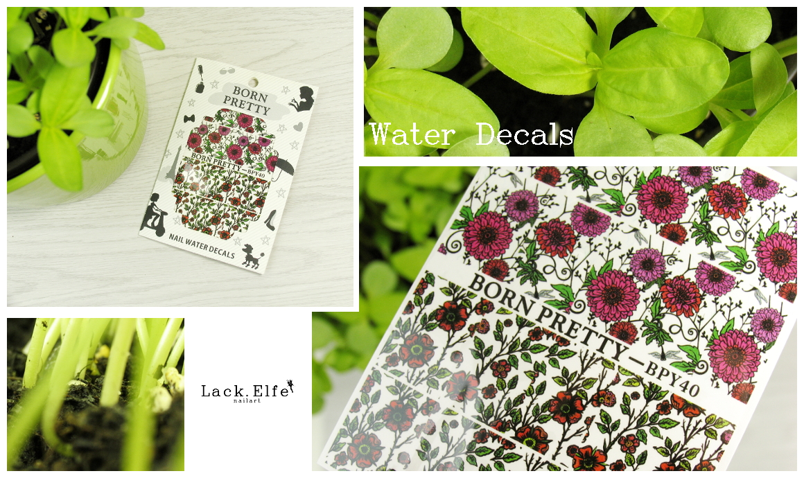 BPS Born Pretty Store 33981 Water Decals lackelfe lack.elfe