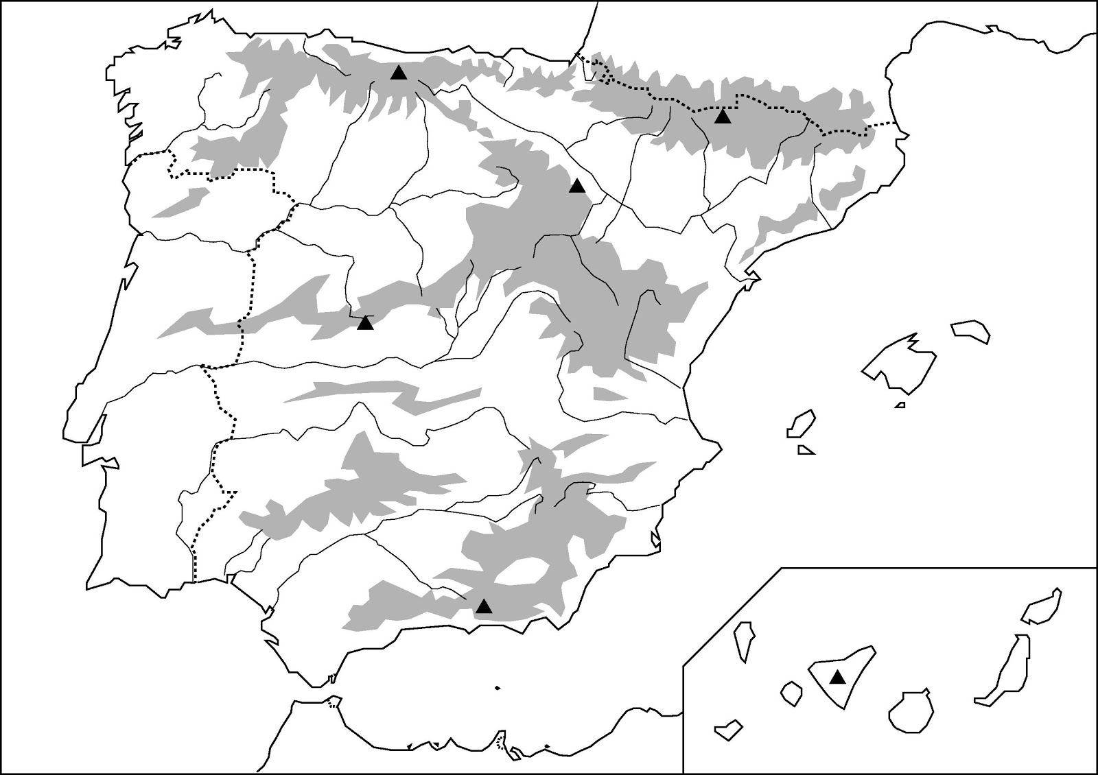 Mapas De Espana Para Imprimir