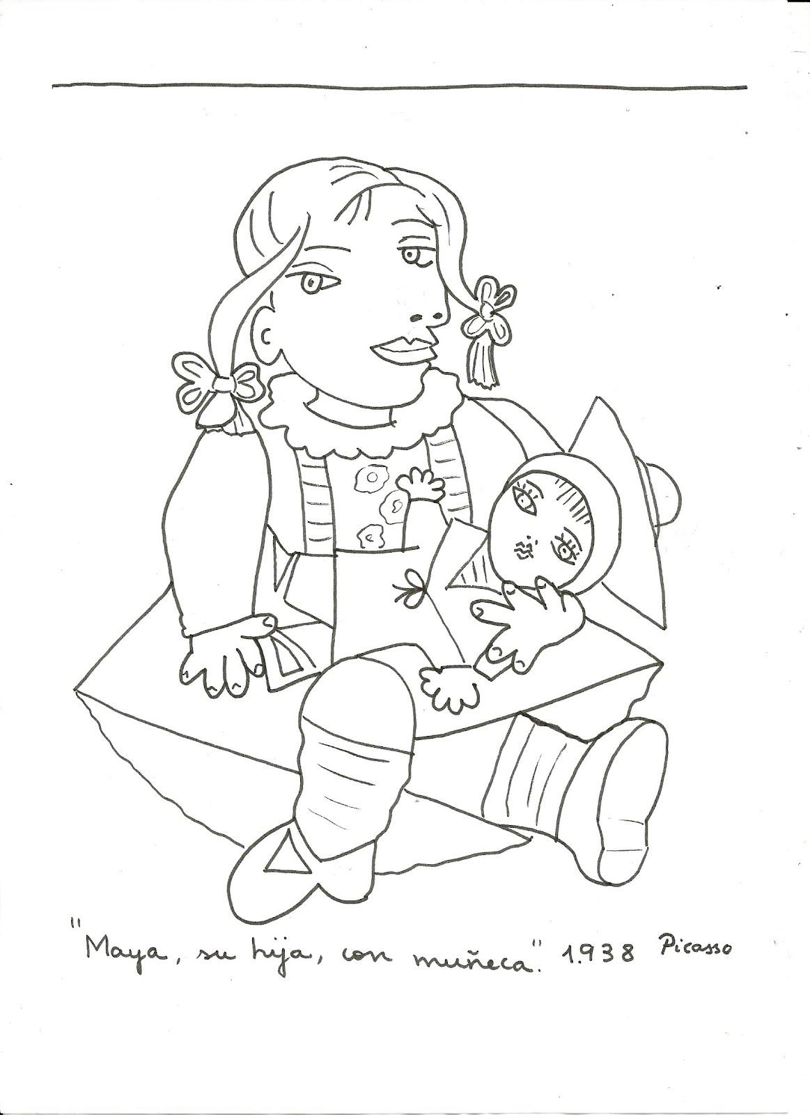 Dibujos De Cuadros Famosos Para Colorear
