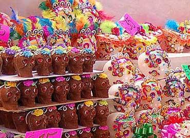 Calaveritas de azcar mexicanas para el Da de Muertos