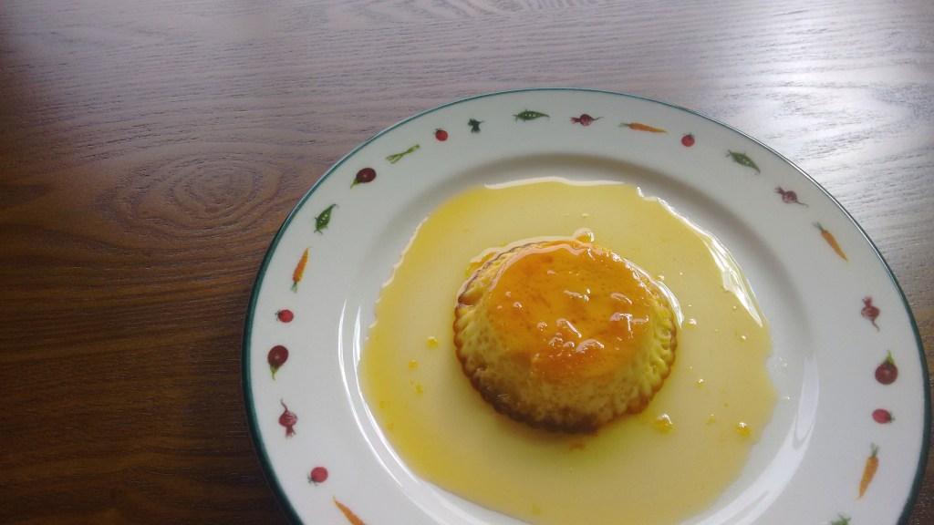 Flan de huevo con caramelo