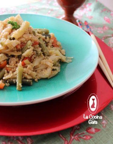 Revueltos de verduras con quinoa