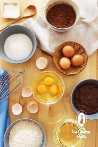 Ingredientes para el Bizcocho de Cacao