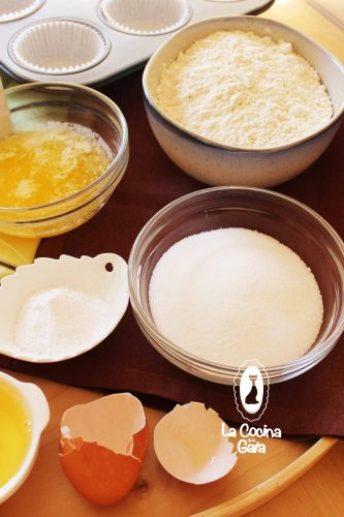 Ingredientes para los Cupcakes de Café