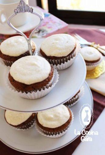 Cupcakes de Café y crema de Plátano