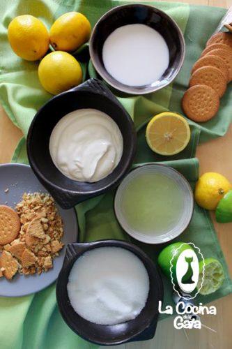 Ingredientes para los helados