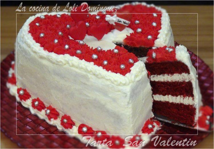 Tarta San Valentín (Bizcocho Red Velvert)