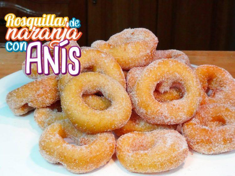 Rosquillas de naranja con anís hechas con rosquillera