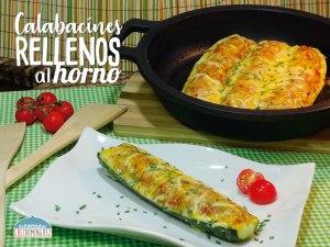 Vamos a preparar Calabacines rellenos de pollo y verduras con queso al horno