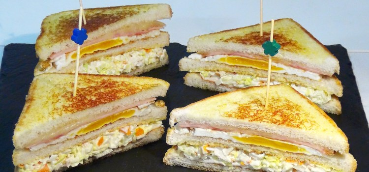 Sándwich combinado. Nunca te habrás comido un Sándwich tan fácil y rico