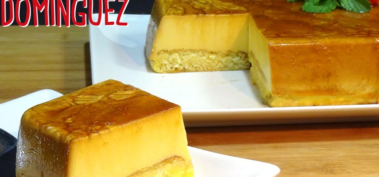Tarta de flan con queso y sobaos. SIN HORNO. Loli Domínguez