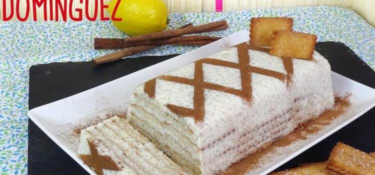 Tarta de arroz con leche y galletas, receta fácil sin horno