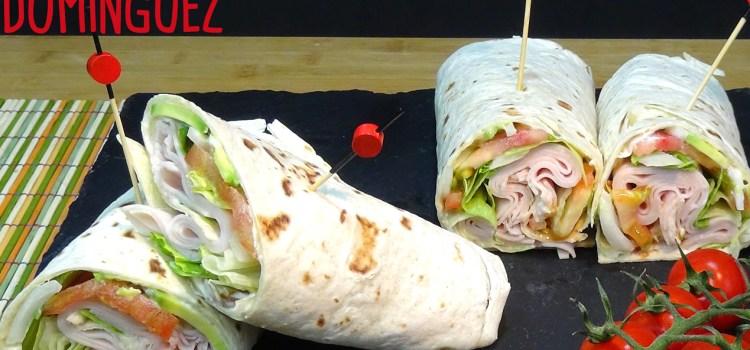 Wraps de pavo o pollo con verdura fresca. Loli Domínguez