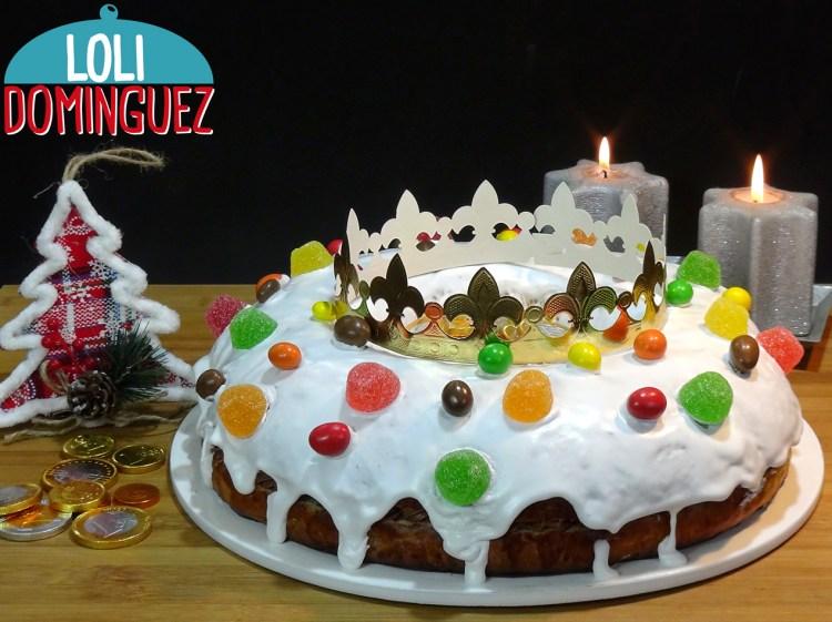 Roscón de Reyes con glaseado real y relleno de trufa. 2019. Cómo hacer el tradicional Roscón