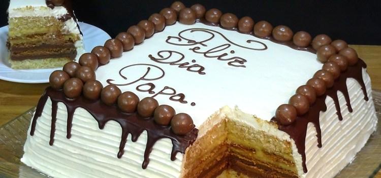 Tarta especial para el Día del Padre con relleno tarta de la abuela