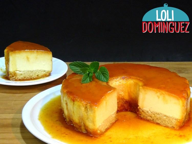 Tarta de queso cremoso con bizcocho (Flancocho), una receta fácil y deliciosa