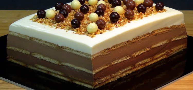 Tarta de 3 chocolates con galletas (SIN HORNO). Loli Dominguez