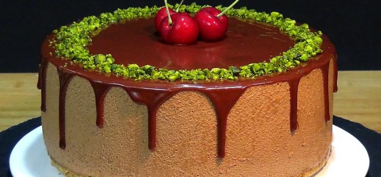 Tarta de chocolate y café, SIN HORNO, un placer solo para adultos