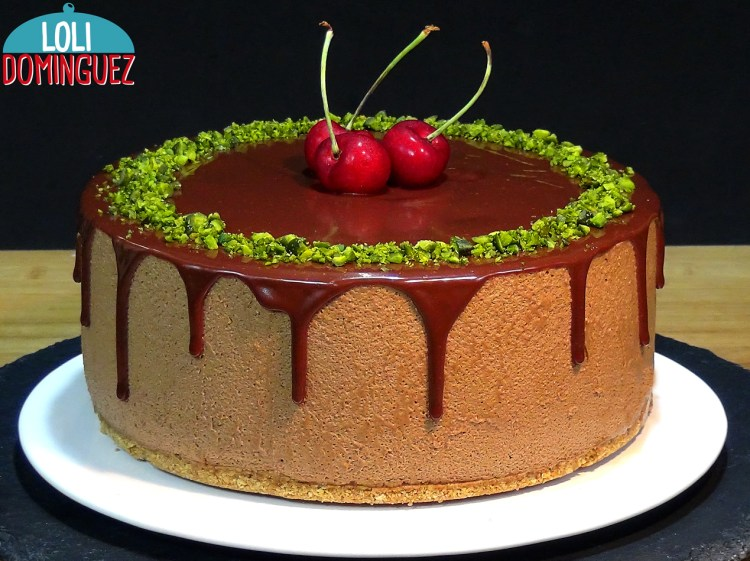 Tarta de chocolate y café, SIN HORNO, un placer solo para adultos; Con un ligero toque de licor de café que hace de esta tarta una tentación imposible de resistir