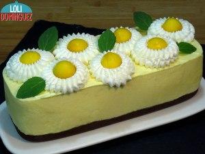Tarta de mango SIN HORNO, fácil, rápida y económica, una tarta fría con un sabor muy tropical y refrescante
