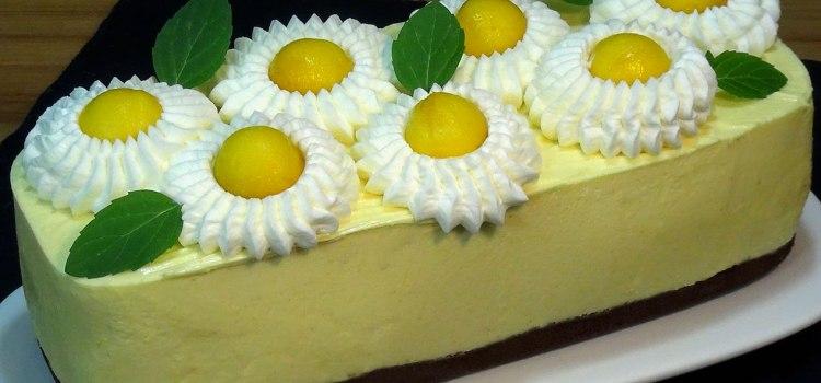 Tarta de mango SIN HORNO, fácil, rápida y económica. Loli Domínguez