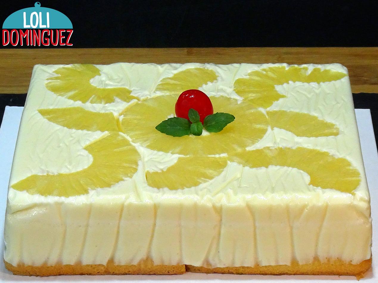 tarta de piña al horno