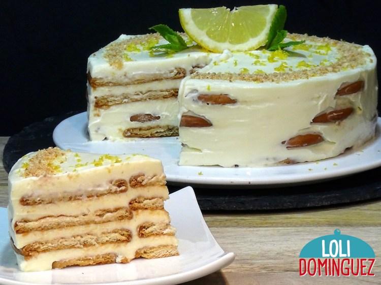TARTA DE LIMÓN CON GALLETAS SIN HORNO Y SIN GELATINA. La tarta más fácil y rápida de hacer que habrás hecho nunca, con un sabor delicioso y una textura cremosa que te va a sorprender sin duda