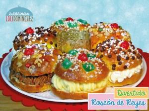 Roscón de Reyes relleno de 3 sabores