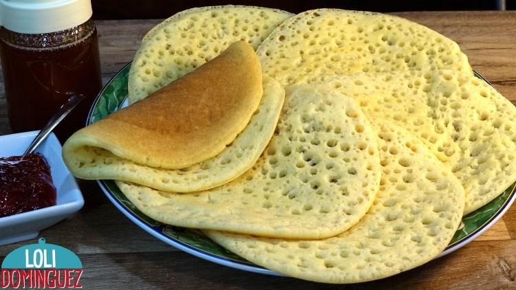 LOS FAMOSOS CREPES DE LOS MIL AGUJEROS (Baghrir), SIN HUEVO NI MANTEQUILLA. Una receta muy fácil rápida y económica que seguro que hará las delicias en el desayuno o la merienda de toda la familia