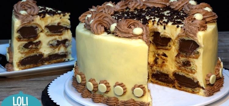 TARTA ESPECIAL DÍA DEL PADRE 2021 (TARTA DE PROFITEROLES). Tarta especial y muy original para este día del padre 2021; Esta tarta además de estar deliciosa es una tarta que deja sorprendido a todo el mundo