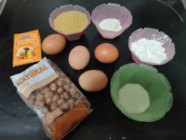 Ingredientes bizcocho de avellanas