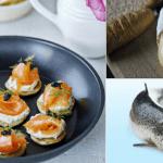 Blinis de salmón ahumado y queso cremoso