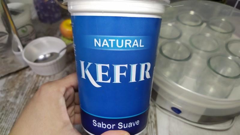 Yogur de fresa en yogurtera del lidl Kéfir leche condensada