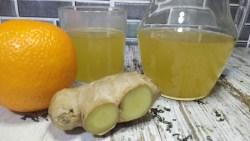 Té verde con jengibre y naranja