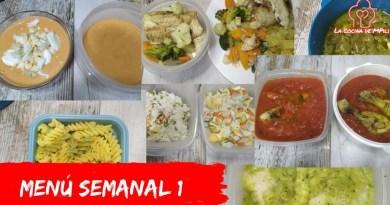 meal prep o menu semanal saludable