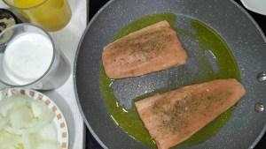 salmon a la naranja facil