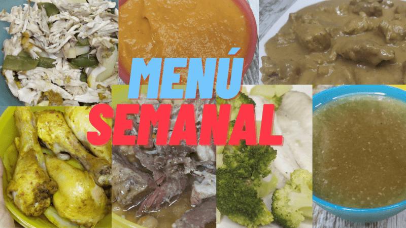 Menú semanal o Meal Prep en olla GM H/ GM G, Robot MAMBO y Horno