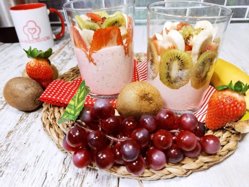 Batido de fresas con frutas