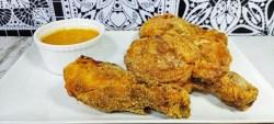 muslos de POLLO FRITO crujiente ESTILO KFC CON AIR FRYER/FREIDORA DE AIRE