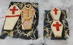 ataudes de sandwiches para halloween. Recetas para niños en halloween