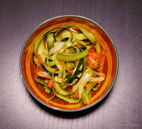 Spaguettis de verduras ¡Apto para veganos!